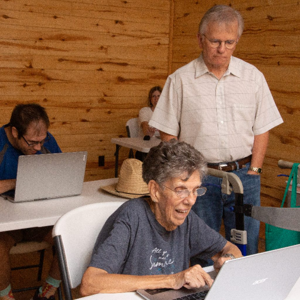 Laptops used by adults with disabilities to learn keyboarding, art and more.
